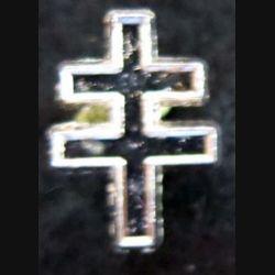 Pin's croix de Lorraine 16X11 mm argenté brillant
