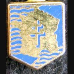 pin's de la 2° division blindée 11X13 mm dos lisse et doré