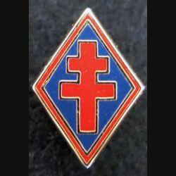 1° DFL : insigne métallique en réduction type pin's de la 1° division française libre