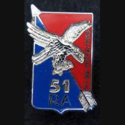 pin's du 51° régiment d'artillerie en émail Ballard 30X20 mm