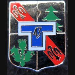 pin's du 43° régiment de transmissions Ballard G. 2125