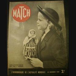 MATCH L'HEBDOMADAIRE DE L'ACTUALITE MONDIALE DU 23 NOVEMBRE 1939 (C72)
