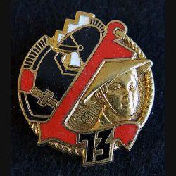 73° bataillon colonial du Génie Drago Paris H. 334 en émail