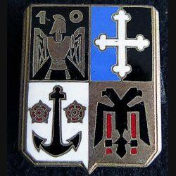 10° régiment du Génie Drago Paris en émail dos guilloché doré