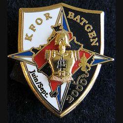 2° régiment du génie KFOR BATGEN 4° mandat LR Paris N° 1279 gravé a dos
