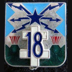 18° régiment de transmissions Delsart H. 638 dos grenu argenté brillant