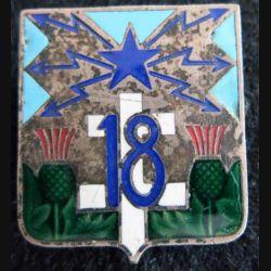 18° régiment de transmissions en émail Drago H. 638