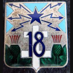 18° régiment de transmissions en émail Drago Paris H. 638