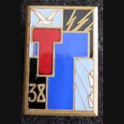 38° régiment de transmissions Drago H.576 en émail