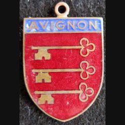 blason en émail de la ville d'Avignon 23X34 mm avec anneau