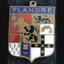 ancien blason en émail de la Flandre française 24X33 mm