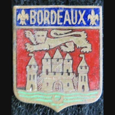 blason en émail de la ville de Bordeaux 23X27mm