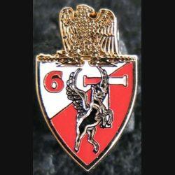 Insigne en réduction de la compagnie de transmissions du 6° régiment de commandement et de soutien de fabrication GLF