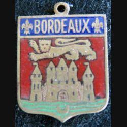 blason en émail de la ville de Bordeaux 22 x 30 mm