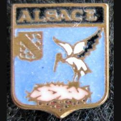 blason en émail de l'Alsace 12 x 14 mm