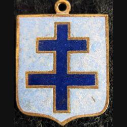 blason en émail croix de Lorraine 23 x 30 mm défaut d'émail