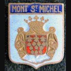 Blason en émail de la ville du Mont St Michel 22 x 27 mm cuivré