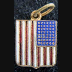 lason en émail des USA 11 x 16 mm anneau maillon