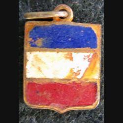 blason en émail de la FRANCE 11 x 16 mm anneau maillon défaut d'émail