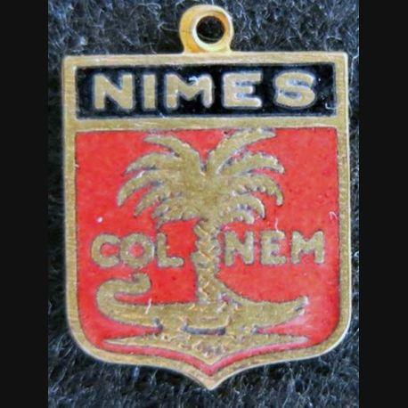 Blason en émail de la ville de Nîmes 11 x 16 mm