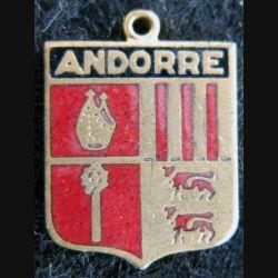 Blason en émail de la Principauté d'Andorre 14 x 19 mm