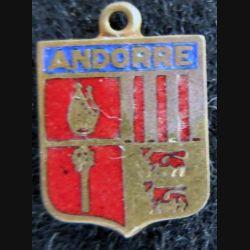 Blason en émail de la Principauté d'Andorre 11 x 16 mm