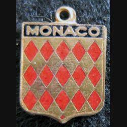 Blason en émail de la Principauté de Monaco 11 x 16 mm