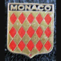 Blason en émail de la Principauté de Monaco 11 x 14 mm