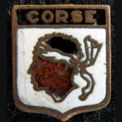 BBlason en émail de la Corse 14 x 11 mm
