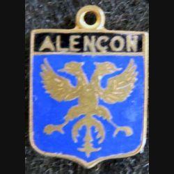 Blason en émail de la ville d'Alençon 11 x 16 mm doré