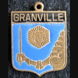 Blason en émail de la ville de Granville 22 x 30 mm cuivré
