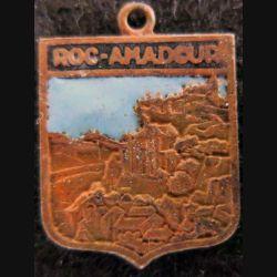 Blason en émail de la ville de Roc-Amadour 15 x 19 mm