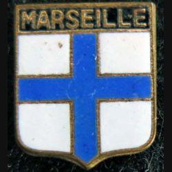 Blason en émail de la ville de Marseille 11 x 14 mm