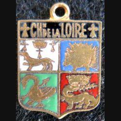 blason émail châteaux de la Loire 11 x 16 mm doré