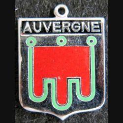 Blason en émail de l'Auvergne 22 x 30 mm argenté