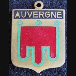 Blason en émail de l'Auvergne 22 x 30 mm doré