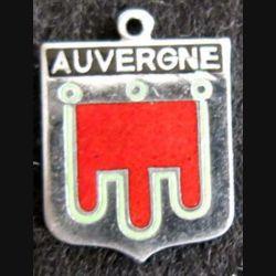 Blason en émail de l'Auvergne 14 x 19 mm argenté