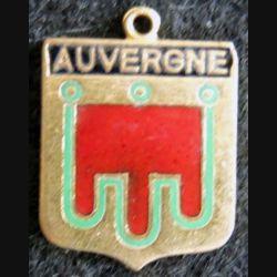 Blason en émail de l'Auvergne 14 x 19 mm doré