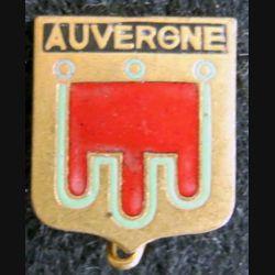 Blason en émail de l'Auvergne 14 x 19 mm épingle cassée