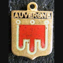 Blason en émail de l'Auvergne 11 x 16 mm doré