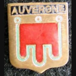 Blason en émail de l'Auvergne 11 x 14 mm épingle absente