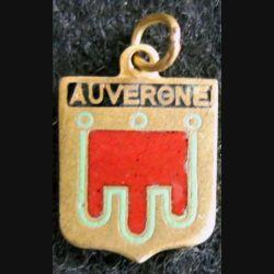 Blason en émail de l'Auvergne 11 x 16 mm doré maillon