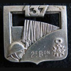 137° régiment d'infanterie 2° bataillon de fabrication Arthus Bertrant Paris dos lisse