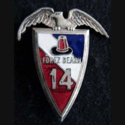 14° régiment d'infanterie Drago Paris Déposé en émail dos lisse