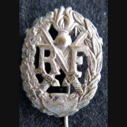 BREVET : Insigne métallique du brevet de chef de section de Gendarmerie, ajouré 27 mm épingle à bascule
