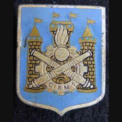 CISM N° 1 : insigne métallique du centre d'instruction du service du Matériel N° 1 Drago Paris G. 1539 en émail