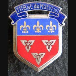 11° bataillon du Matériel Drago Olivier Métra déposé en émail