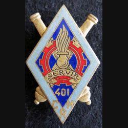 401° compagnie de réparation du Matériel en émail Drago Paris G. 1809