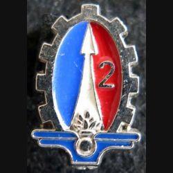 insigne métallique en réduction du 2° régiment du matériel Boussemart