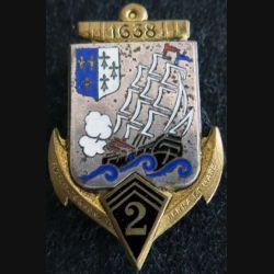 2° régiment d'infanterie coloniale Drago Paris G. 433 en émail